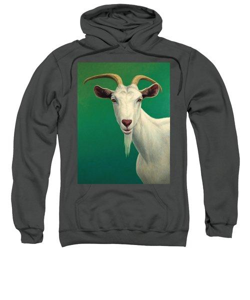 Portrait Of A Goat Sweatshirt by James W Johnson