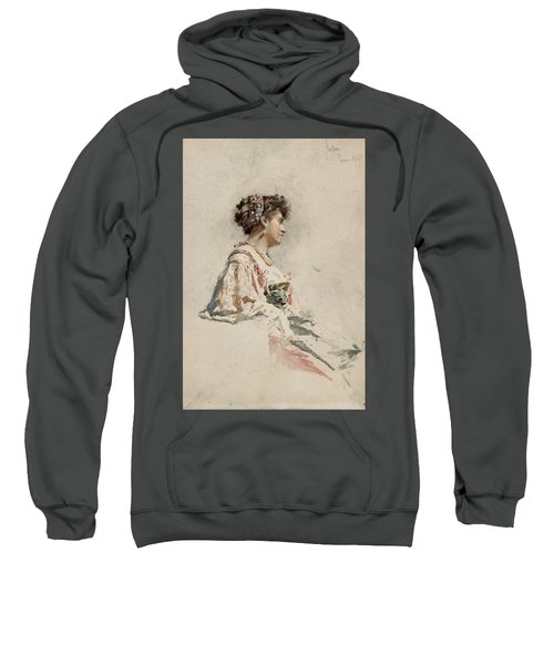 Portrait Of A Young Woman Sweatshirt
