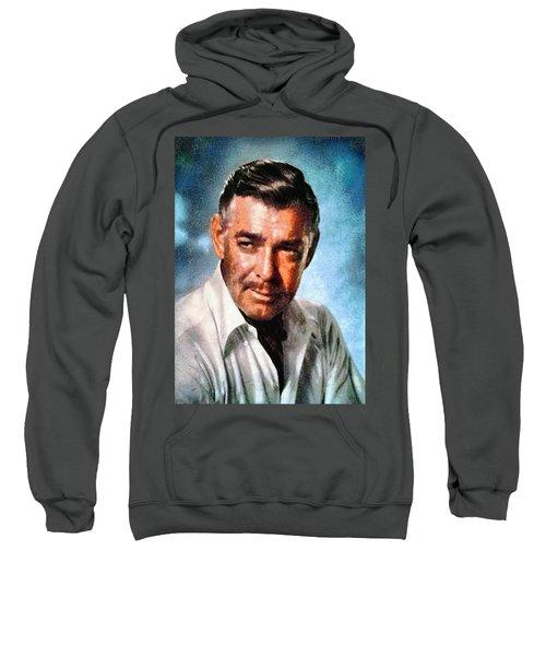 Portrait Of Clark Gable Sweatshirt