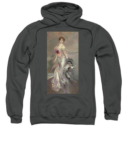 Portrait Of Marthe Regnier Sweatshirt by Giovanni Boldini