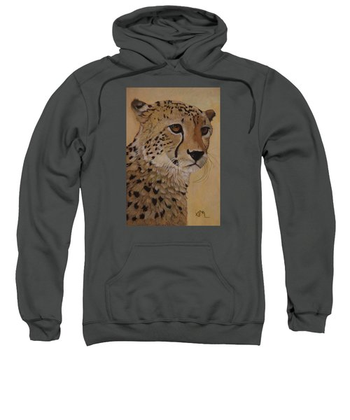 Portrait Of Murphy - Male Cheetah Sweatshirt