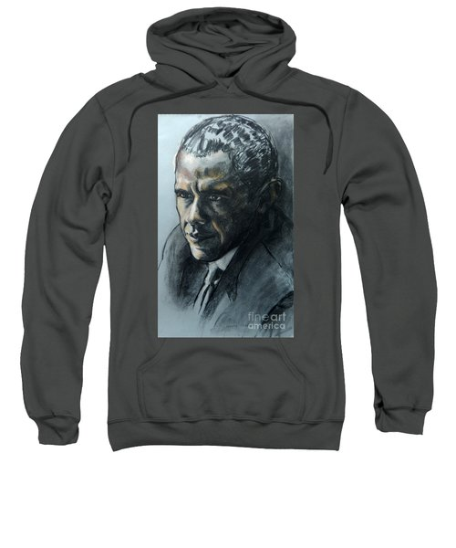 Charcoal Portrait Of President Obama Sweatshirt
