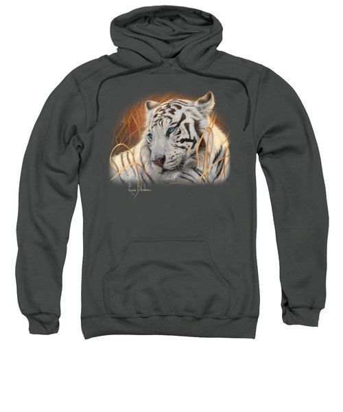 Portrait White Tiger 1 Sweatshirt by Lucie Bilodeau