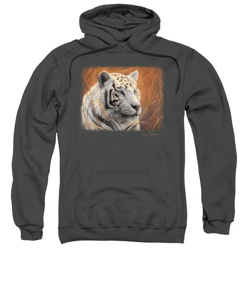 Portrait White Tiger 2 Sweatshirt by Lucie Bilodeau