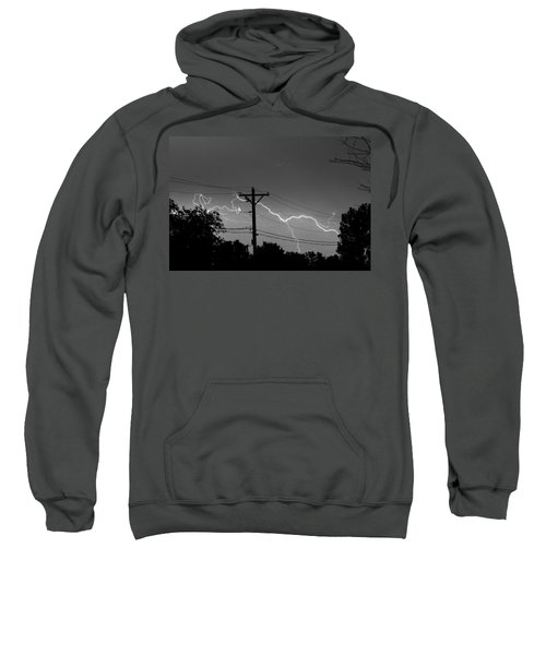 Power Lines Bw Fine Art Photo Print Sweatshirt