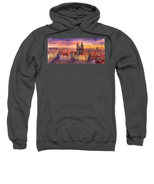 Prague Old Town Square 02 Sweatshirt