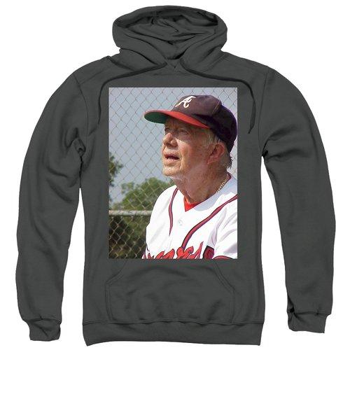 President Jimmy Carter - Atlanta Braves Jersey And Cap Sweatshirt