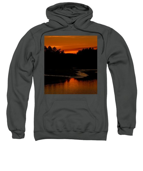 Presumpscot Sunset No.101 Sweatshirt by Mark Myhaver