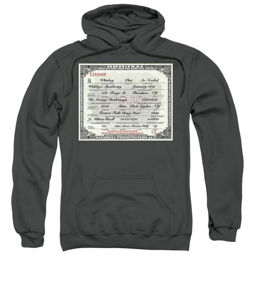 Prohibition Prescription Certificate Speakeasy Sweatshirt