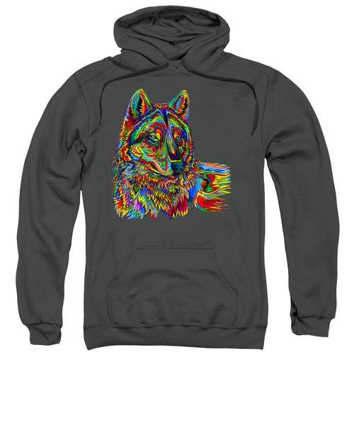 Psychedelic Wolf Sweatshirt