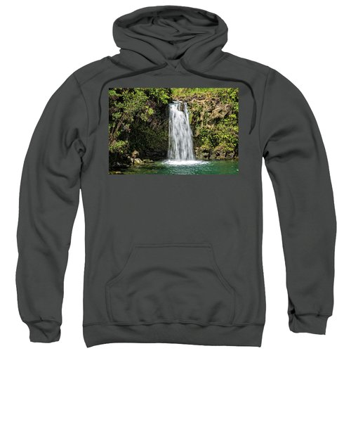 Sweatshirt featuring the photograph Pua'a Ka'a Falls by Jim Thompson