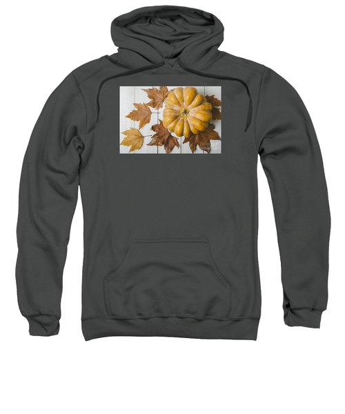 Pumkin And Maple Leaves Sweatshirt