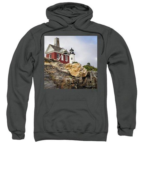 Pumphouse And Tower, Pemaquid Light, Bristol, Maine  -18958 Sweatshirt