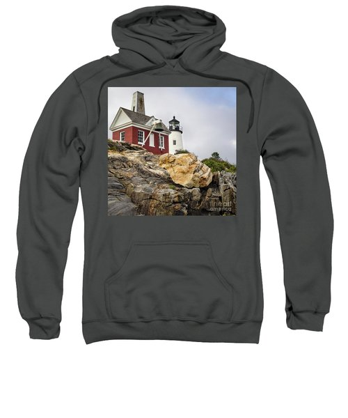 Pumphouse And Tower, Pemaquid Light, Bristol, Maine  -18958 Sweatshirt