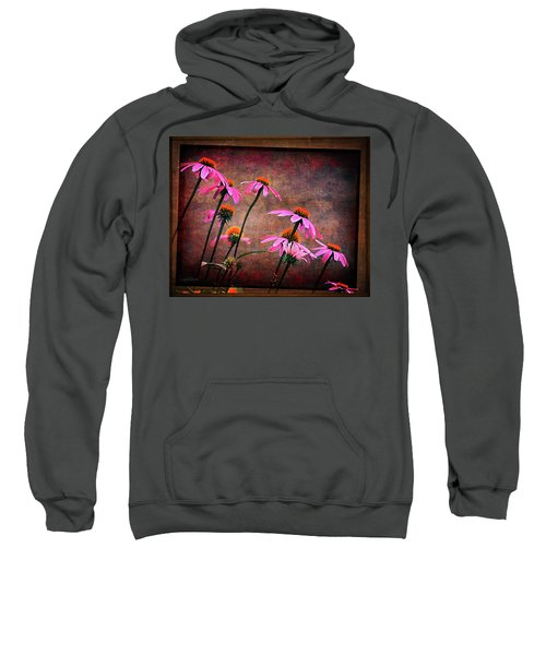 Purple Coneflowers Out Of Alignment  Sweatshirt