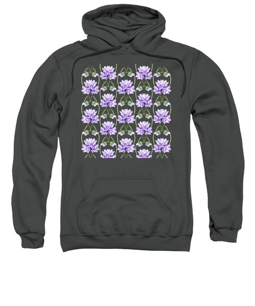 Purple Flowers Hearts Pattern Sweatshirt