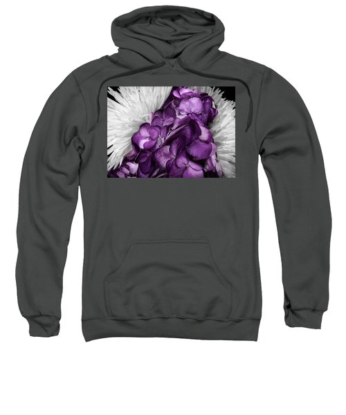 Purple In The White Sweatshirt