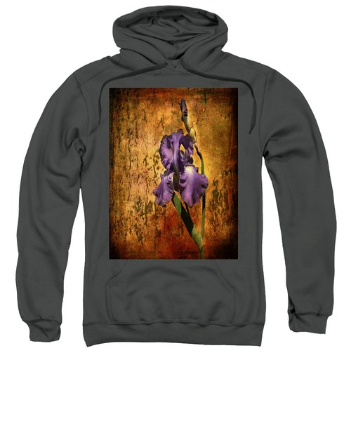 Purple Iris At Sunset Sweatshirt