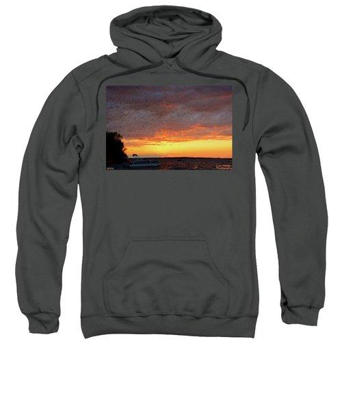 Purple Martin Sunset On Lake Murray Sc Sweatshirt