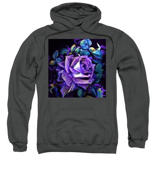 Purple Rose Bud Painting Sweatshirt