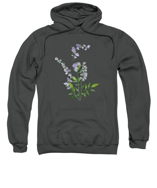 Purple Tiny Flowers Sweatshirt