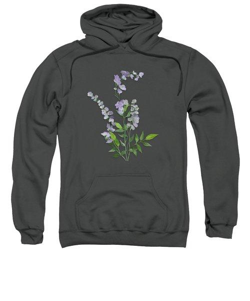 Purple Tiny Flowers Sweatshirt