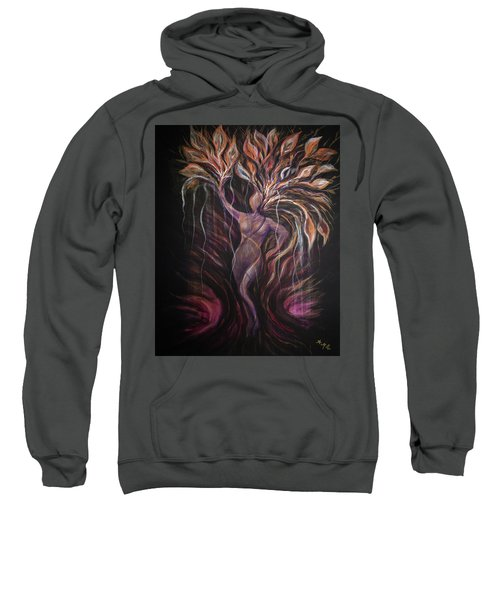 Purple Tree Goddess Sweatshirt