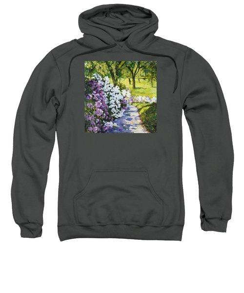 Purple White Sweatshirt
