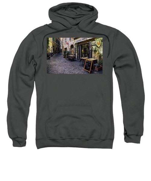 Quaint Cobblestones Streets In Rome, Italy Sweatshirt