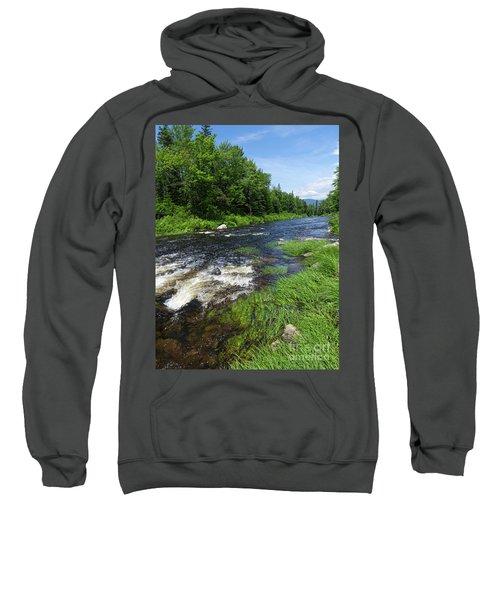 Quill Pond Brook Near Rangeley Maine  -70748 Sweatshirt