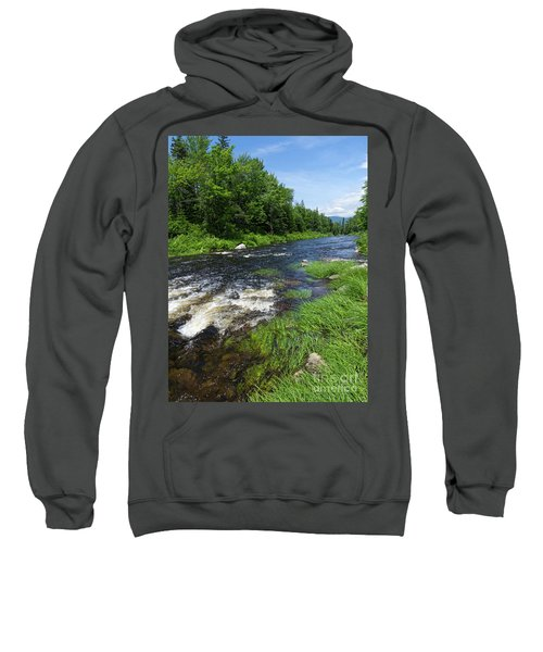 Quill Pond Brook Near Rangeley Maine  -70748 Sweatshirt