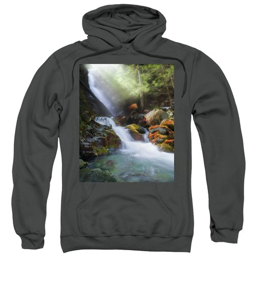 Sweatshirt featuring the photograph Race Brook Falls 2017 by Bill Wakeley