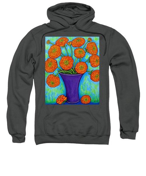 Radiant Ranunculus Sweatshirt