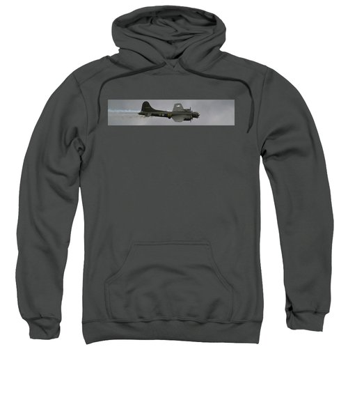 Raf Scampton 2017 - B-17 Flying Fortress Sally B Smoke Sweatshirt