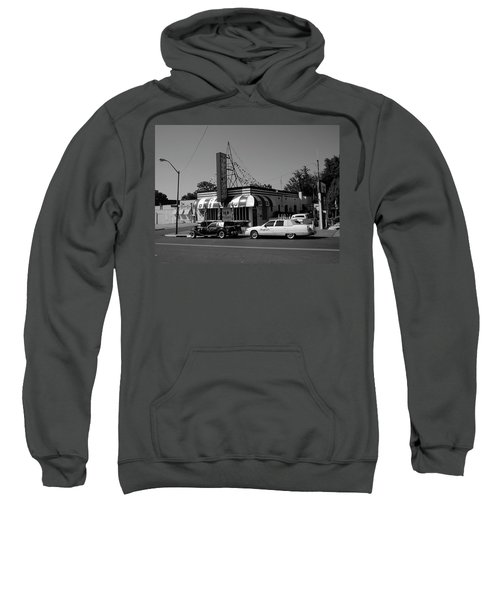 Sweatshirt featuring the photograph Raifords Disco Memphis A Bw by Mark Czerniec