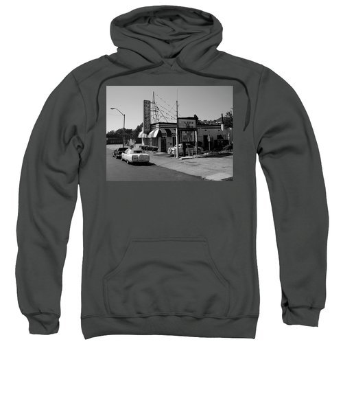 Sweatshirt featuring the photograph Raifords Disco Memphis B Bw by Mark Czerniec
