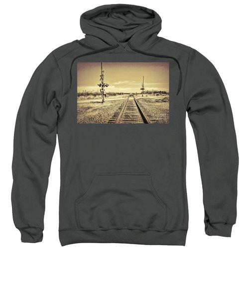 Railroad Crossing Textured Sweatshirt