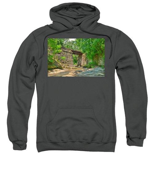 Railroad Tracks At Buttermilk/homewood Falls Sweatshirt