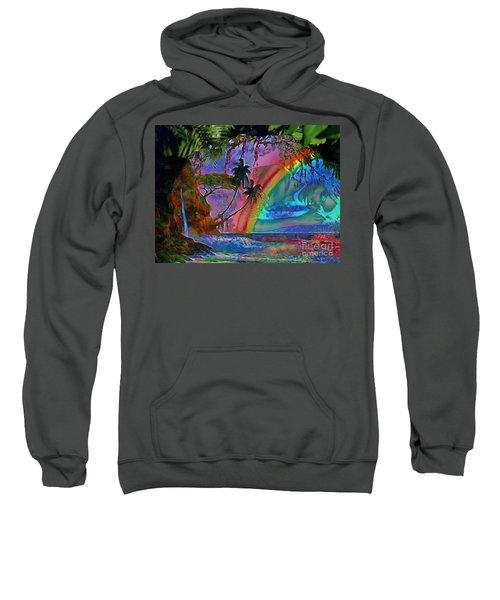 Rainboow Drenched In Layers Sweatshirt