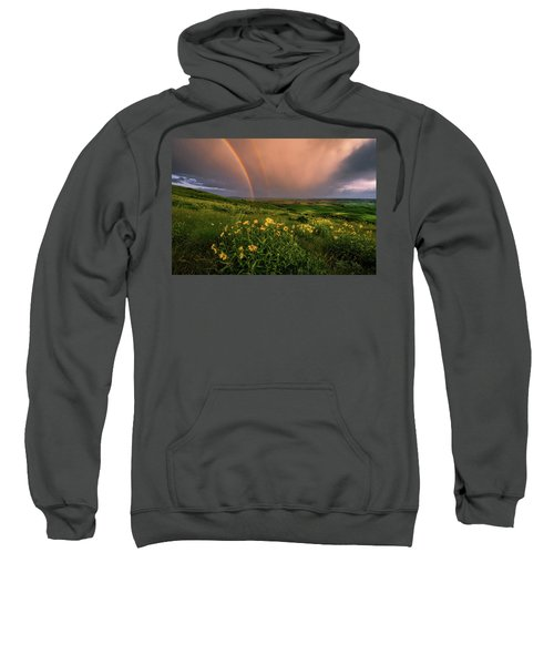 Rainbow At Steptoe Butte Sweatshirt