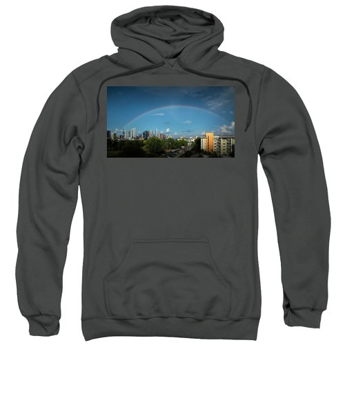 Rainbow Over Austin Sweatshirt