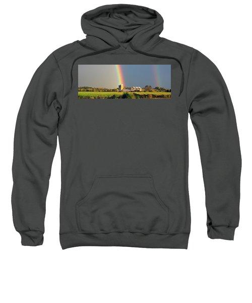 Rainbow Over Barn Silo Sweatshirt