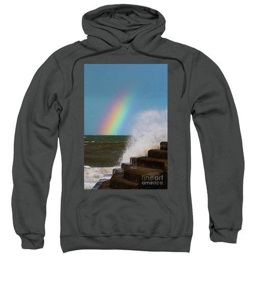 Rainbow Over The Crashing Waves Sweatshirt
