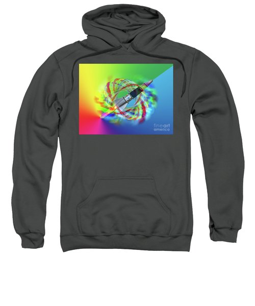 Rainbow Rocket Orbits Sweatshirt