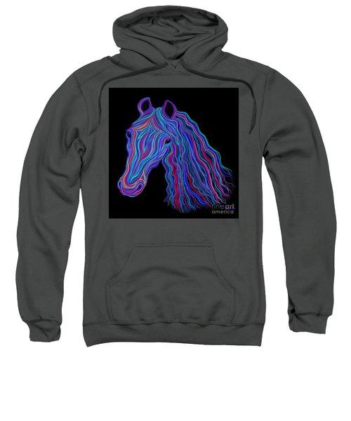Rainbow Tribal Horse  Sweatshirt