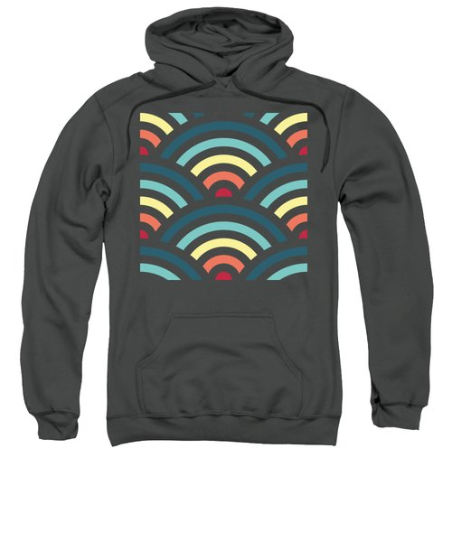 Rainbowaves Pattern Dark Sweatshirt by Freshinkstain