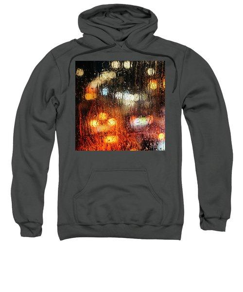 Raindrops On Street Window Sweatshirt