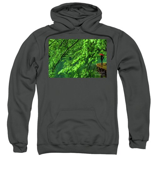 Raining Serenity - Plitvice Lakes National Park, Croatia Sweatshirt
