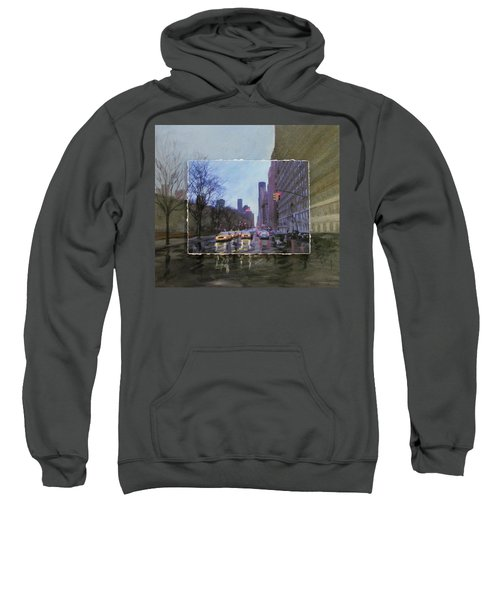 Rainy City Street Layered Sweatshirt