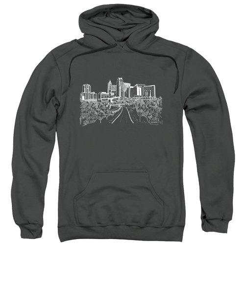 Raleigh Nc White On Dark Background Sweatshirt
